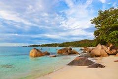 Παραλία Anse Λάτσιο - Σεϋχέλλες Στοκ εικόνα με δικαίωμα ελεύθερης χρήσης