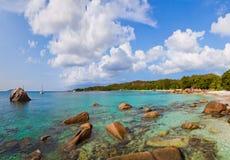 Παραλία Anse Λάτσιο - Σεϋχέλλες Στοκ Φωτογραφίες