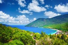 Παραλία Antisamos στο νησί Kefalonia, Ελλάδα Στοκ Εικόνες