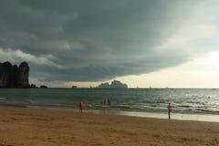 Παραλία AO Nang, Krabi, Ταϊλάνδη Στοκ φωτογραφία με δικαίωμα ελεύθερης χρήσης