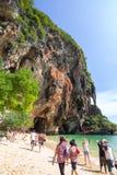 Παραλία AoNang Krabi Ταϊλάνδη ουρανού Στοκ Εικόνες