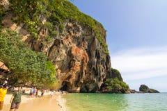 Παραλία AoNang Krabi Ταϊλάνδη ουρανού Στοκ Φωτογραφία