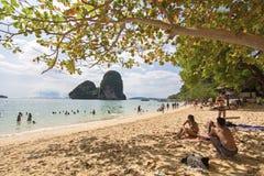 Παραλία AoNang Krabi Ταϊλάνδη ουρανού Στοκ Εικόνα