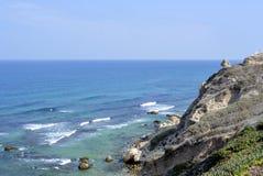 Παραλία Apollonia κοντά στο Τελ Αβίβ Στοκ φωτογραφίες με δικαίωμα ελεύθερης χρήσης
