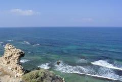Παραλία Apollonia κοντά στο Τελ Αβίβ Στοκ Εικόνα