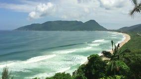 Παραλία Armacao σε Florianopolis, Βραζιλία απόθεμα βίντεο