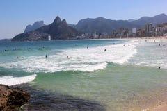 Παραλία Arpoador στο Ρίο ντε Τζανέιρο Στοκ Εικόνες