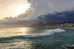 Παραλία Arpoador στο Ρίο ντε Τζανέιρο Στοκ Φωτογραφία