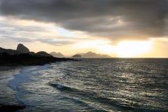Παραλία Arpoador Στοκ Εικόνες