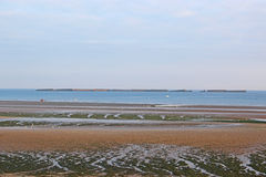 Παραλία Arromanches, Γαλλία Στοκ φωτογραφίες με δικαίωμα ελεύθερης χρήσης