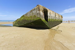 Παραλία Arromanches Στοκ εικόνα με δικαίωμα ελεύθερης χρήσης