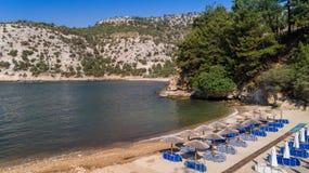 Παραλία Arsanas, νησί Thassos, Ελλάδα Στοκ Εικόνες