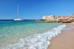 Παραλία Banje - Dubrovnik Κροατία Στοκ εικόνες με δικαίωμα ελεύθερης χρήσης