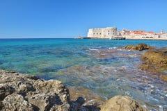 Παραλία Banje - Dubrovnik Κροατία Στοκ Φωτογραφία