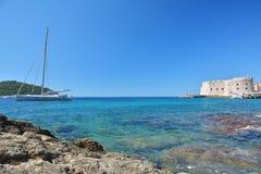 Παραλία Banje - Dubrovnik Κροατία Στοκ φωτογραφία με δικαίωμα ελεύθερης χρήσης