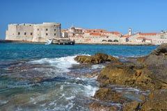 Παραλία Banje - Dubrovnik Κροατία Στοκ Εικόνες