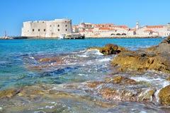 Παραλία Banje - Dubrovnik Κροατία Στοκ φωτογραφίες με δικαίωμα ελεύθερης χρήσης