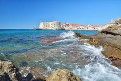 Παραλία Banje - Dubrovnik Κροατία Στοκ Φωτογραφίες