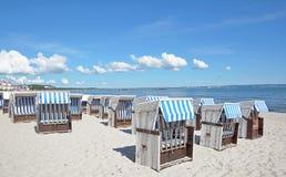 Παραλία Binz, νησί Ruegen, η θάλασσα της Βαλτικής, Γερμανία Στοκ Φωτογραφίες