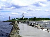 Παραλία Bolderaja Στοκ εικόνα με δικαίωμα ελεύθερης χρήσης