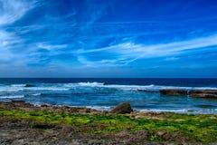Παραλία Branca Pedra σε Ericeira Πορτογαλία Στοκ φωτογραφία με δικαίωμα ελεύθερης χρήσης