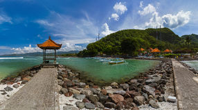 Παραλία Candidasa - νησί Ινδονησία του Μπαλί Στοκ Εικόνες