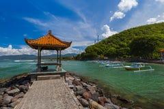 Παραλία Candidasa - νησί Ινδονησία του Μπαλί Στοκ εικόνα με δικαίωμα ελεύθερης χρήσης