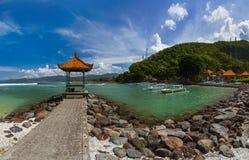 Παραλία Candidasa - νησί Ινδονησία του Μπαλί Στοκ Φωτογραφίες