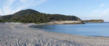 Παραλία Chia στοκ εικόνες