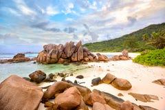 Παραλία Cocos Anse Στοκ Εικόνα