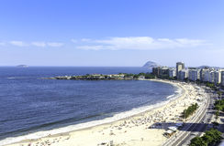 Παραλία Copacabana, Ρίο ντε Τζανέιρο Στοκ Φωτογραφία