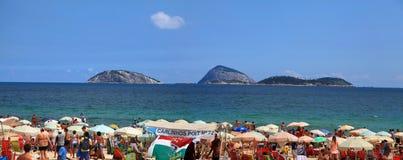 Παραλία Copcabana Στοκ εικόνα με δικαίωμα ελεύθερης χρήσης