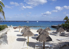 Παραλία Cozumel Στοκ εικόνα με δικαίωμα ελεύθερης χρήσης