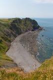 Παραλία Devon Αγγλία σημείου Hartland στοκ φωτογραφία