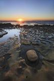 Παραλία dusk Στοκ Εικόνες
