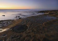 Παραλία dusk Στοκ Φωτογραφίες