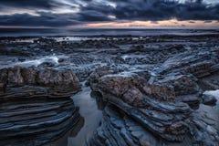 Παραλία dusk Στοκ Εικόνα