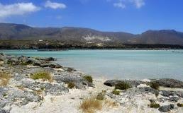 Παραλία Elafonissos στην Ελλάδα Στοκ Εικόνα