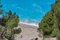 Παραλία Gialos στο νησί της Λευκάδας Στοκ Φωτογραφίες