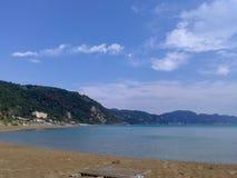 Παραλία Glyfada στην Κέρκυρα Ελλάδα Στοκ φωτογραφία με δικαίωμα ελεύθερης χρήσης