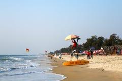 Παραλία, GOA, Ινδία Στοκ εικόνα με δικαίωμα ελεύθερης χρήσης