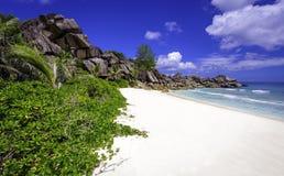 Παραλία Grande anse, Σεϋχέλλες Στοκ εικόνα με δικαίωμα ελεύθερης χρήσης