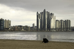 Παραλία Gwangalli στη busan Κορέα Στοκ φωτογραφία με δικαίωμα ελεύθερης χρήσης