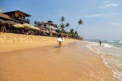 Παραλία Hikkaduwa στη Σρι Λάνκα Στοκ φωτογραφία με δικαίωμα ελεύθερης χρήσης
