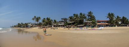 Παραλία Hikkaduwa στη Σρι Λάνκα Στοκ Εικόνα