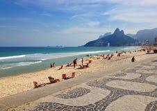 Παραλία Ipanema, Ρίο ντε Τζανέιρο, Βραζιλία Στοκ Εικόνες