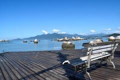 Παραλία itaguaçu-Florianopolis Στοκ εικόνα με δικαίωμα ελεύθερης χρήσης
