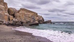Παραλία Khasab στο βίντεο χρόνος-σφάλματος χερσονήσων του Ομάν - Musandam απόθεμα βίντεο