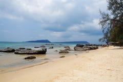 Παραλία Koh στο νησί Rong, Καμπότζη στοκ φωτογραφίες με δικαίωμα ελεύθερης χρήσης