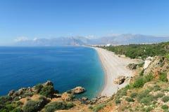 Παραλία Konyaalti σε Antalya Τουρκία Στοκ φωτογραφία με δικαίωμα ελεύθερης χρήσης